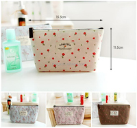 quilted canvas shaped male portable cosmetic bag