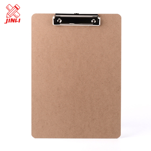 Hot sale school hospital office supplies durable high quality mdf wooden clipboard