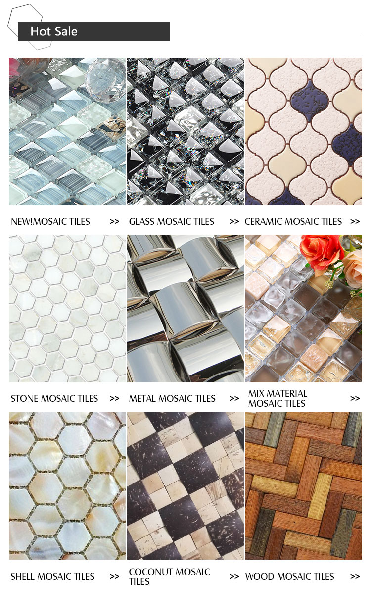 2018 Hot Sale Glass Mosaic Tile New Design Bathroom White Lantern ...