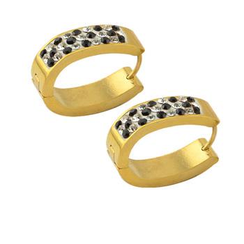 Women Multicolor Crystal Hoop Earrings Tanishq Designs Dubai Gold Jewelry Earring