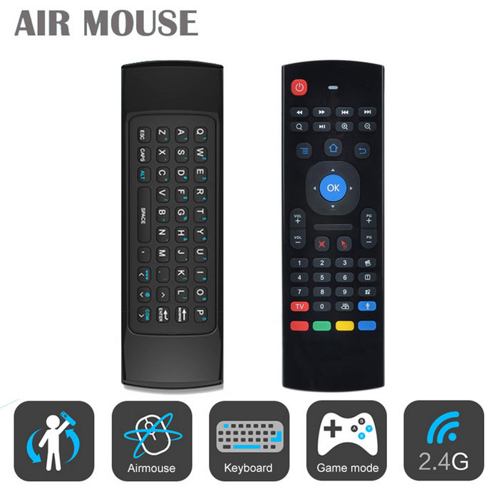 MX3 2.4G Wireless Keyboard And Air Mouse QWERTY Keyboard IR Learning Remote Control Mini Bluetooth Keyboard