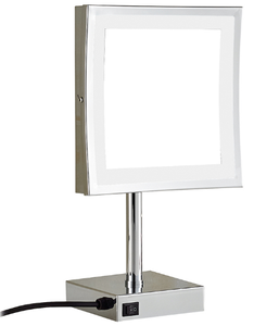 2019 latest cosmetic brass square desktop LED makeup mirror