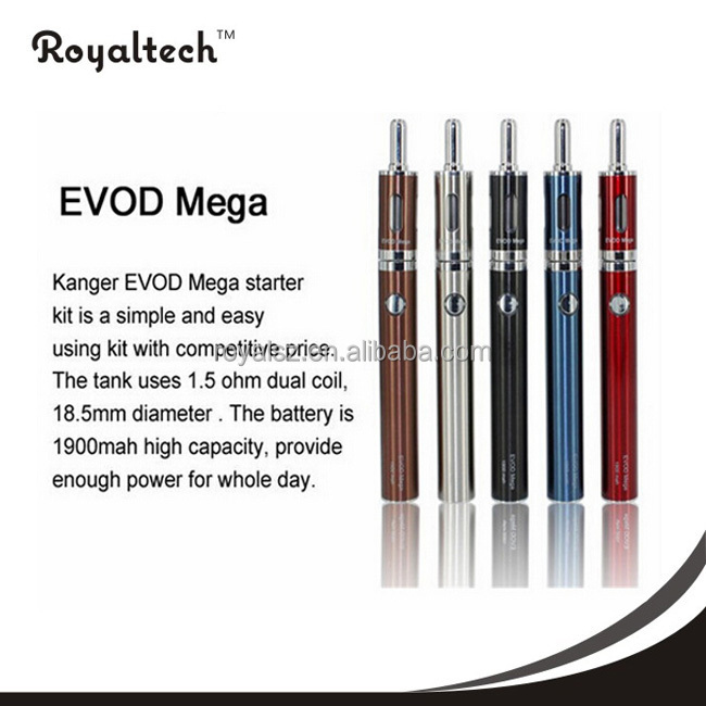 Top selling in USA 1900mah kanger evod mega kit 100% original with best price