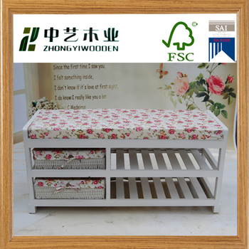 Pleasing Ornate French Style In Pure White Flower Cushion Shoe Rack With Bench Seat Buy Shoe Rack With Bench Seat Ornate French Style In Pure White Flower Lamtechconsult Wood Chair Design Ideas Lamtechconsultcom
