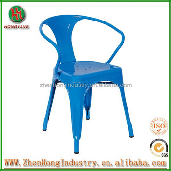 Hongyang Metal Frame Stackable Chair/Small Metal Chairs/Metal Round Bar  Stools