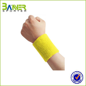 2016 logo customized wrist sweatband