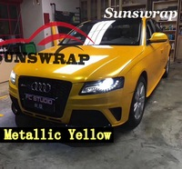 Sunswrap Super Gloss Metallic Maple Leaf New Car Wrap Vinyl Wrap Covering Like Hexis cast Quality with Air-release 5x67ft/roll
