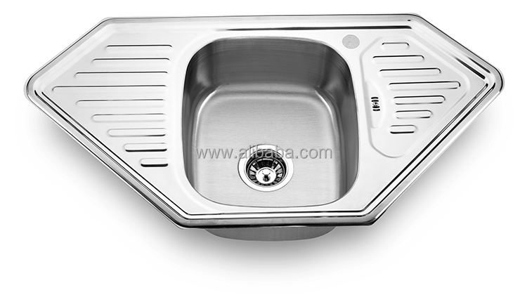Fantasy design stainless steel counter top kitchen Italian kitchen sink
