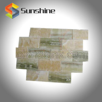 Honey Onyx And Green Onyx Natural Stone Subway Tile