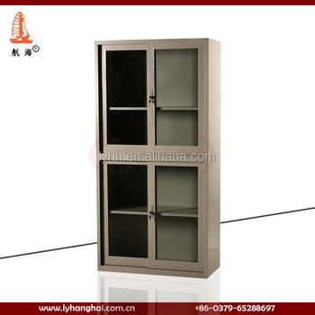 Custom Lockable 4 Door Metal Office Furniture Locker Design Sliding
