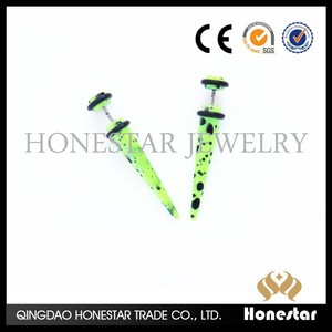 Newest Paint Body Jewelry , Ear Stretcher Expander, Fake Ear Taper