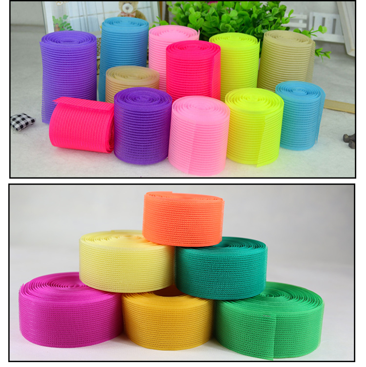 Shenzhen factory wholesale bangs large discount color hoop and loop tape