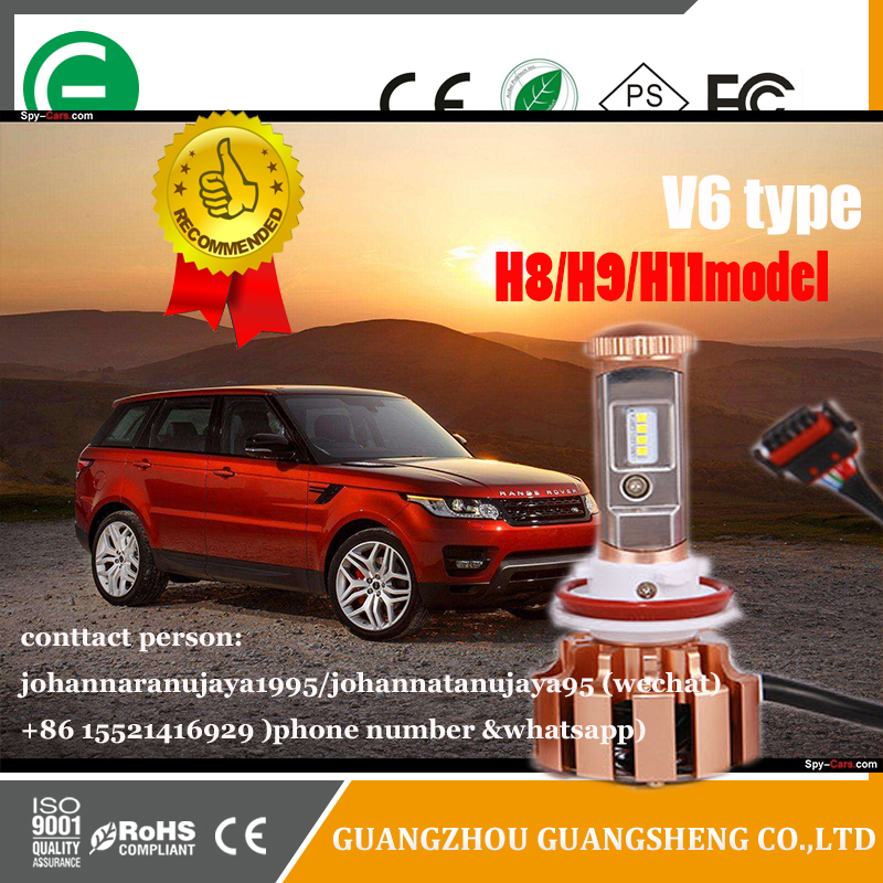 Smart Fan V6 with Original Philip chip 40W power has many kind of models (Hi/Lo beam) automobile LED headlight