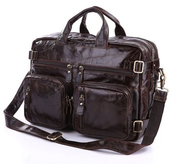 New Hot Selling Africa Multi-functional Real Leather Backpack For Men And Ladies 7026C-1