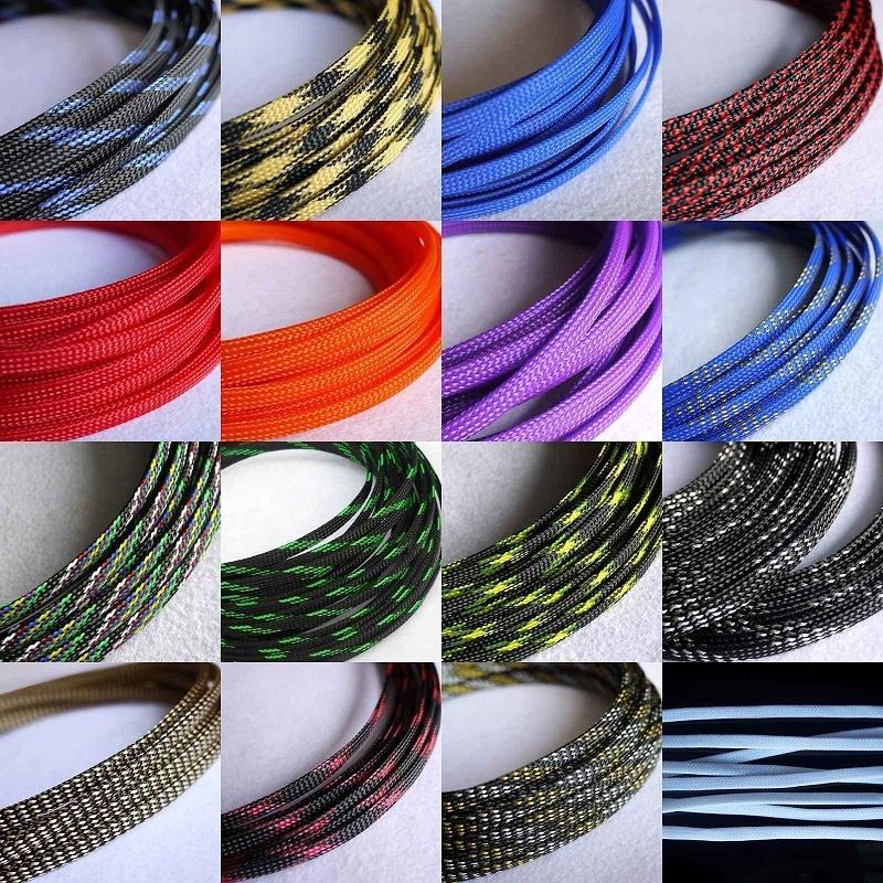 Фабрика Hampool поставляемая Автоматическая проволока кабель партия обшивка 10 м PET расширяемый плетеный рукав