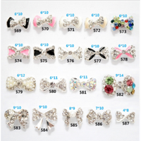 BLING BLING 3D Nail Art Metallic Bows with Rhinestone 3D Nail Art Decoration Wholesale