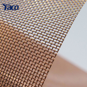 Plain weave anti electromagnetic radiation fabric copper mesh for EMF  shielding