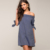 HAODUOYI Summer Slash Neck Striped Backless Short Dress Bow Tie Sleeve Ladies Mini Dress for Wholesale