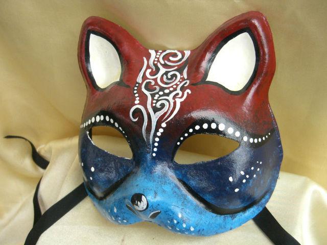 El Yapimi Boyama Parti Kedi Maskesi Yuz Maskesi Buy Boyama Kedi