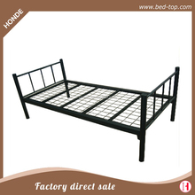 Heavy duty military single cot cheap metal frame mesh single bed for sale