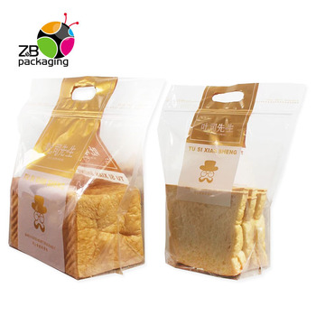 Food wrapping biodegradable baguette transparent plastic bread bags with your own logo
