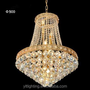 Golden Crystal Chandelier Decorative Luxury Lighting For Egypt Market Light