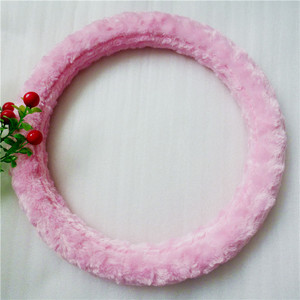 plush pink winter new car steering wheel cover wool