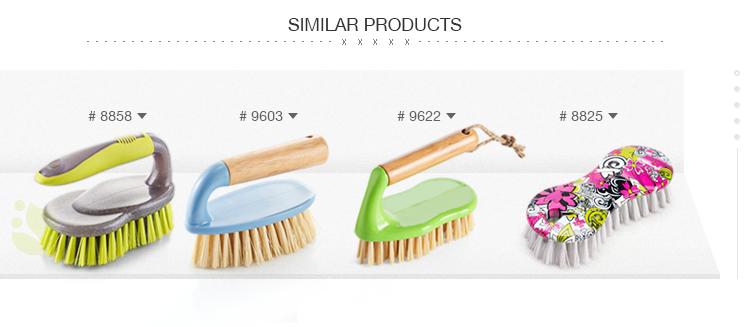 Banyo temizleme plastik karo yıkama ahşap sapı sert fırça
