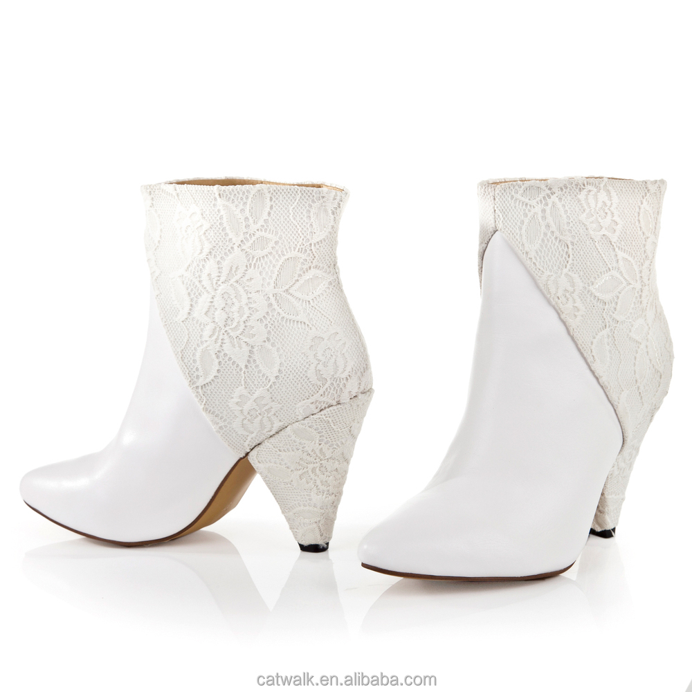 High Heel Ankle Booties Rubber Latex Boots Winter Women ...