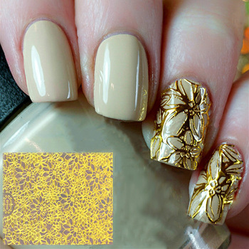 Hot Sale Popular Hollow 3D Gel Nail Sticker