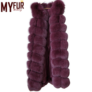 New Fashion Sleeveless Outerwear Lady Long Faux Fox Fur Vest
