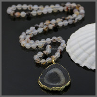 LS-S079 NEW !!!! Rosary pendant Necklace Wholesale,Jade necklace beaded necklace gold plated nacklace