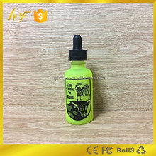 unique green surface with OEM print 30ml e liquid glass bottle with childproof cap