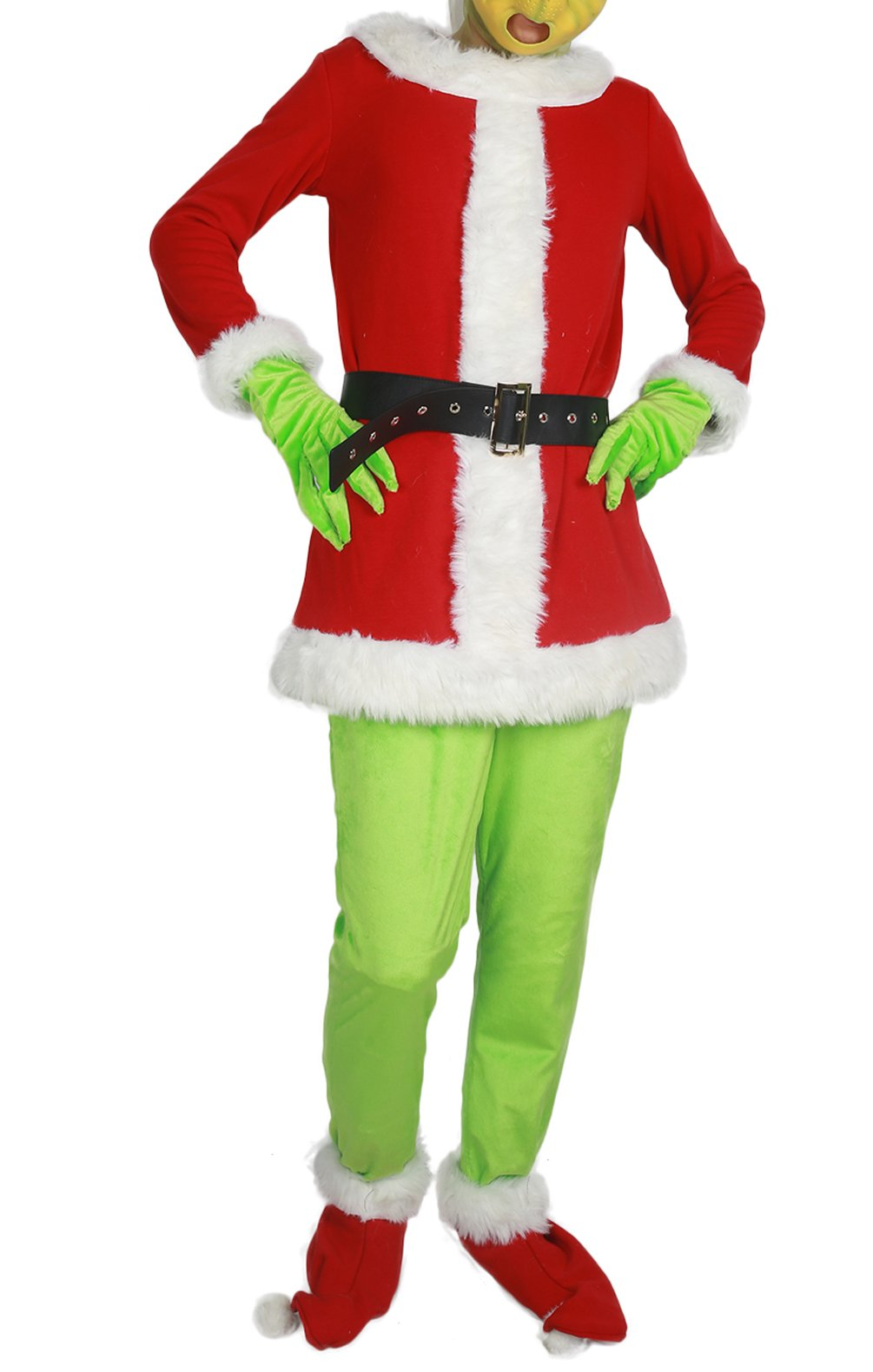 be81e2982e1 ECOS The Grinch Mask or Outfit With Hat Deluxe Adult Cosplay Costume  Accessory Xcoser