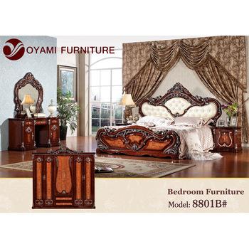 Luxury king size european bedroom furniture set, View european ...