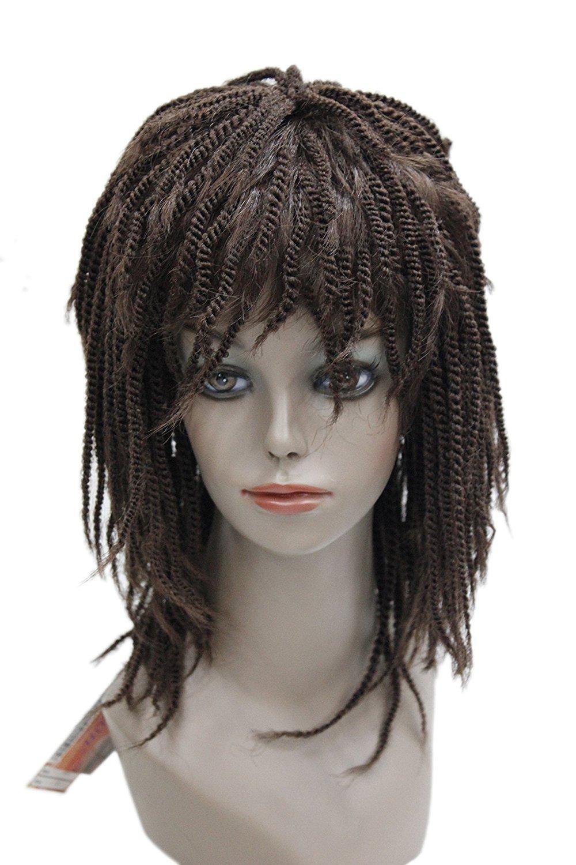 Dreads Bandana Wig Dreadlock Costume Braids Rasta Biker Jamaican Thug Accessory Black