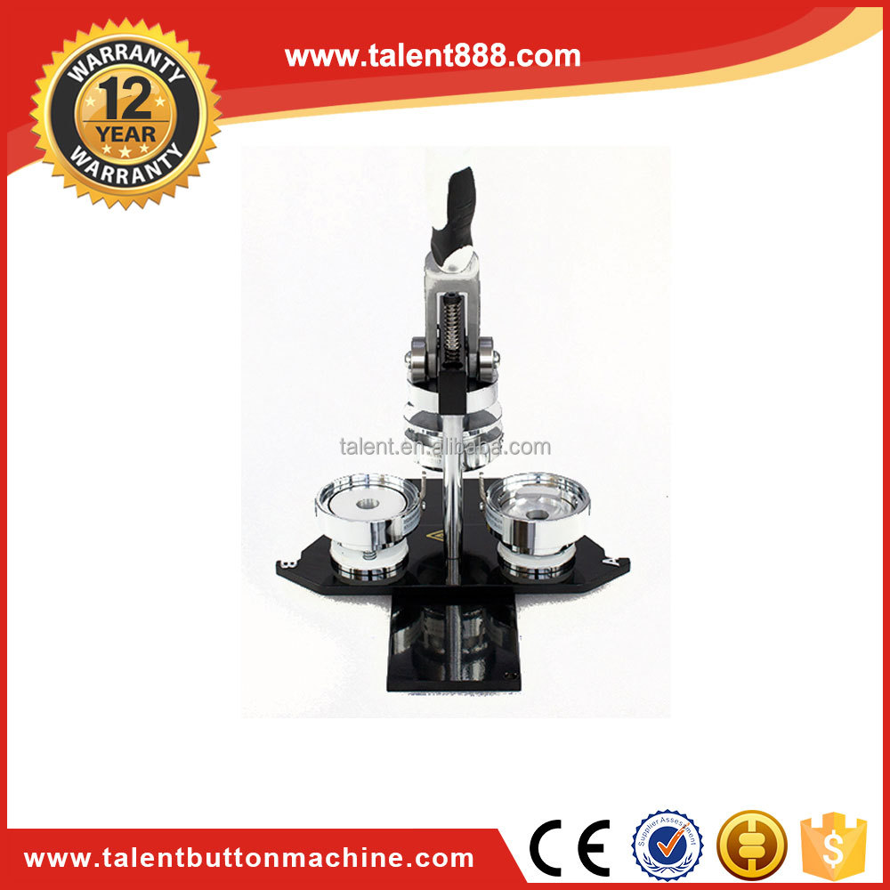 Hot China Products Wholesale covered button maker Badge Making Machine 65mm (2 3/5), 75mm (3) Pin Button Maker