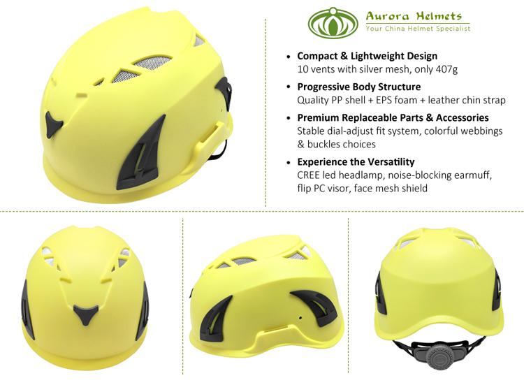 CE EN 12492 Climbing helmet for work at height/rock climbing/civil defence 3