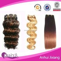 Factory direct sale price silky straight two tone color human hair weaving