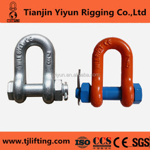 rigging hardware us type round pin g - 2150 anchor shackle