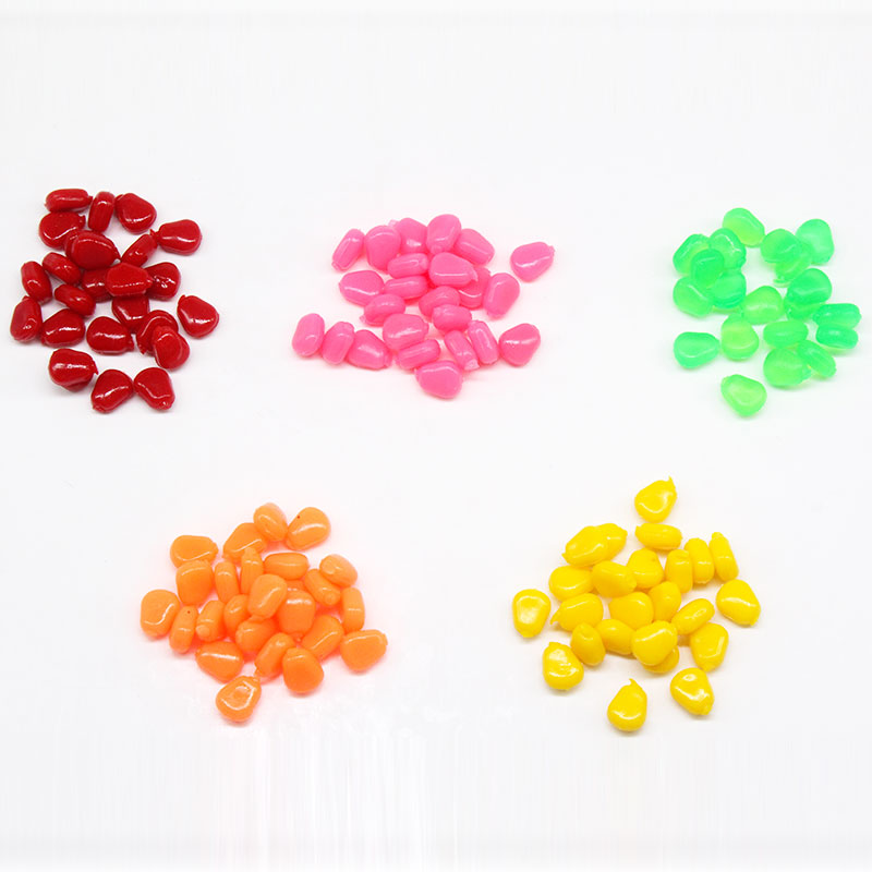30pcs/lot New product PVC 1cm 0.4g 5 colors floating corn with the smell fresh water carp soft fishing lyre bait