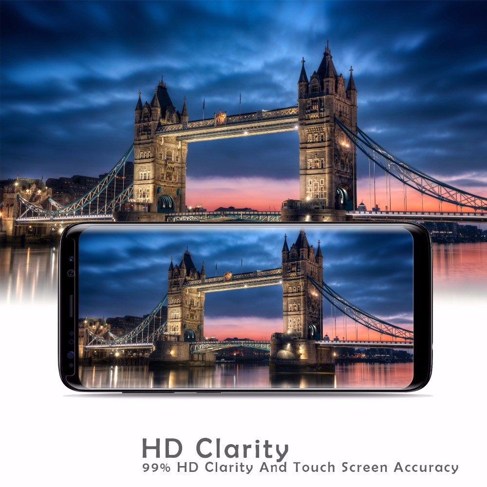 High definition 3D 9h 0.33mm full protective tempered glass screen protector for Samsung Galaxy S8 /S8+