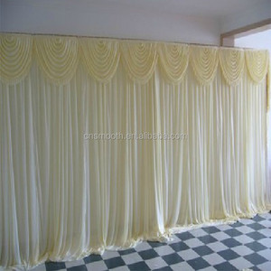 Pipe and Drape Mandap Wedding Backdrop Design for Living Room Curtains