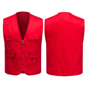 Adult Supermarket Volunteer Activity Vest Multi-Pocket Waistcoat