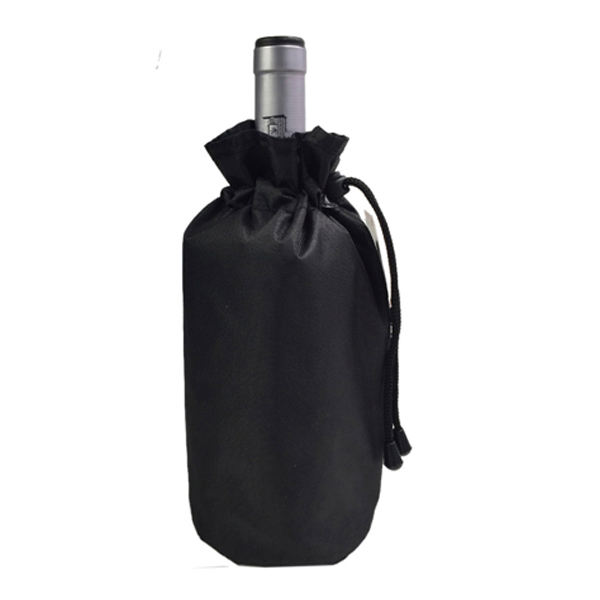 Polyester wine bottle sleeve, gel wine bottle cooler wrap