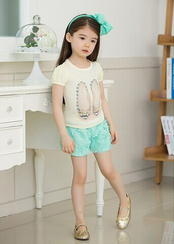 New Summer Girls' Clothing,Girls Cute Lace Sleeve T-shirt,China ...