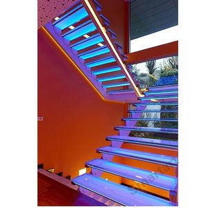 New design Double stringer glass staircase