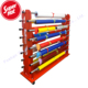 High Quality double sided hanging textile pipe fabric roll floor stand rug display rack