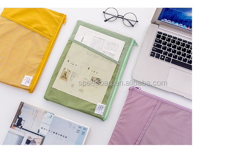 Multi-function A4 Grid file folder Fabric Document bags holder storage for paper bill stationery package pouch school office bag