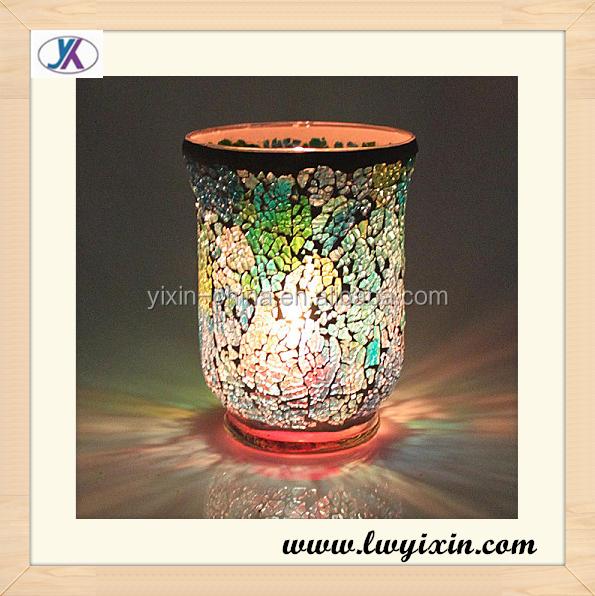 Púrpura y rosa de cristal/recuerdos mosaico candelabro de cristal ...
